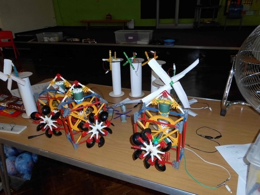 Water-wheel-windmills-models